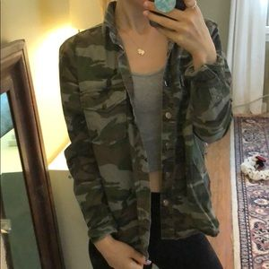 Forever 21 Camo Button Up